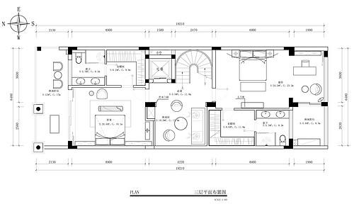 振业城-680平-新中式风格-别墅装修效果图装修设计理念