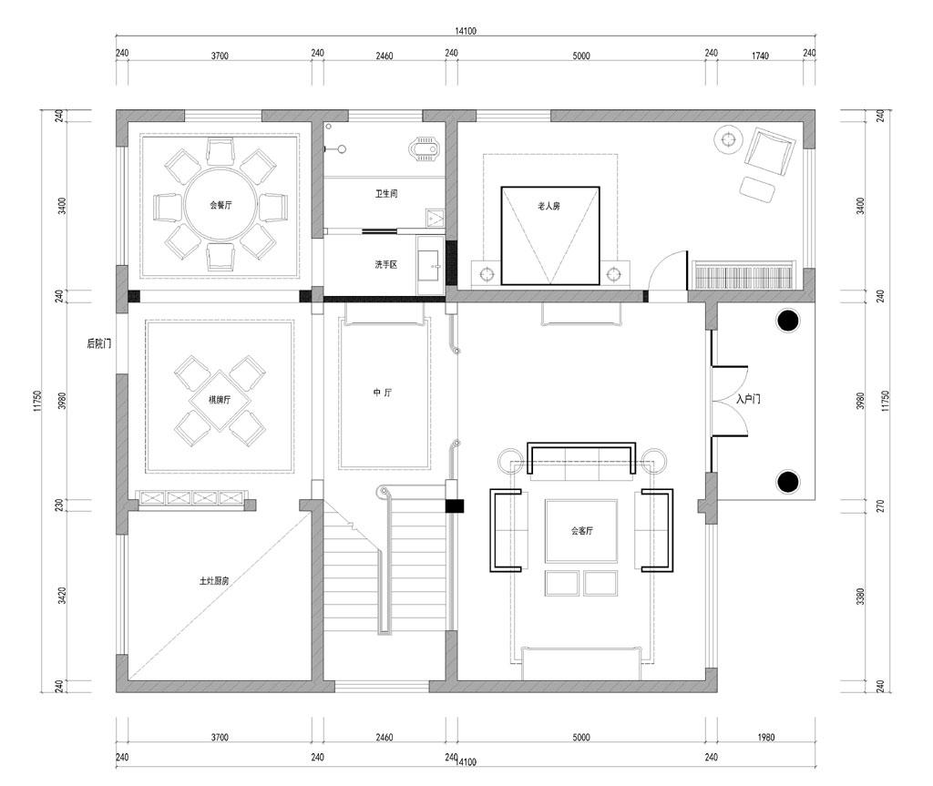 碧桂园简欧风格350平米别墅装修效果图装修设计理念