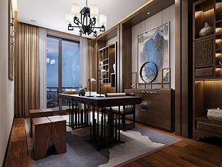 佛山万科水晶城现代中式228㎡公寓户型解析