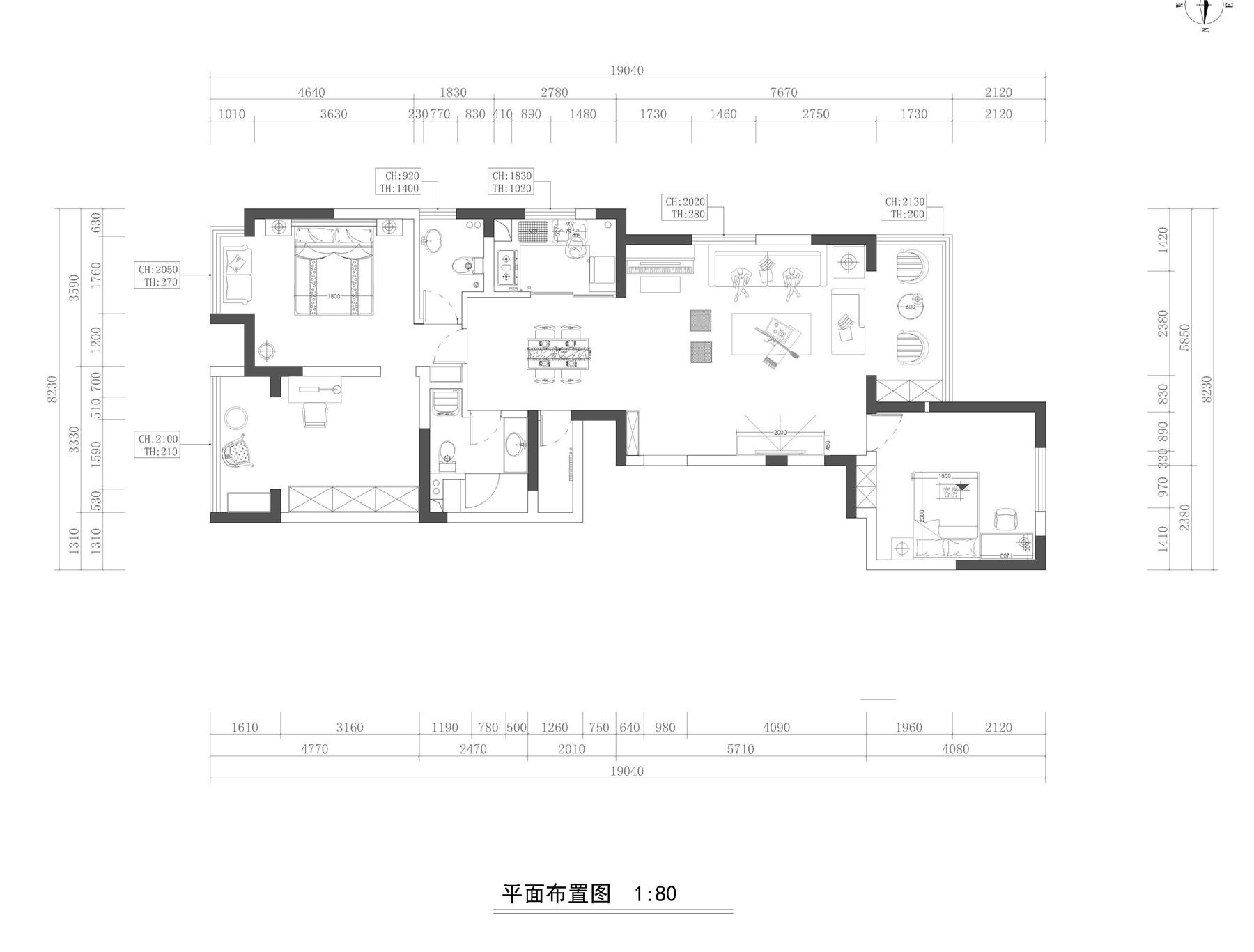 永威翡翠城欧式古典120㎡普通住宅装修设计理念