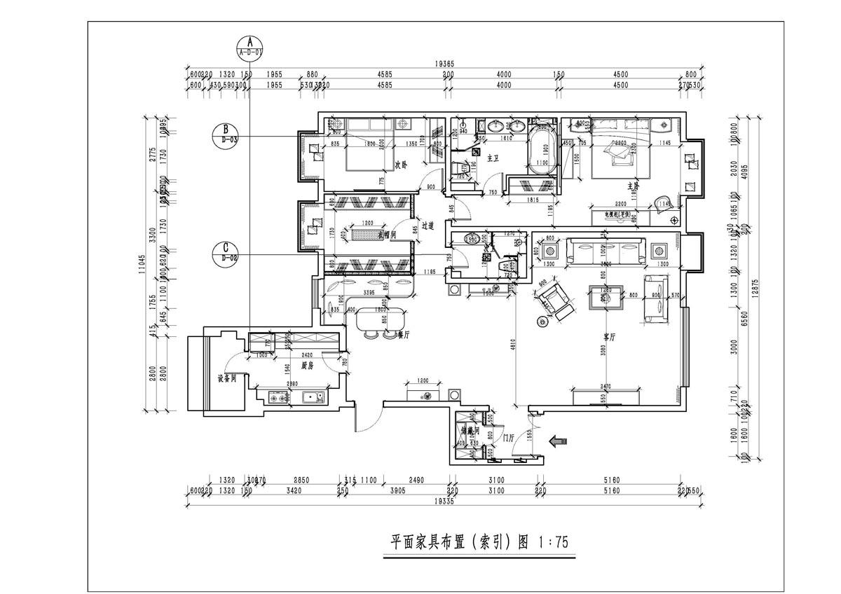 棕榈泉 欧式风格 200㎡装修设计理念