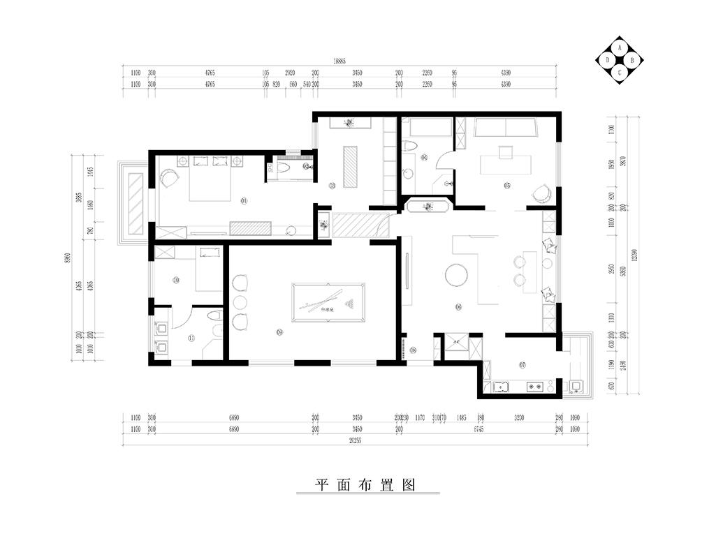 弘善家园-现代简约-220㎡装修设计理念