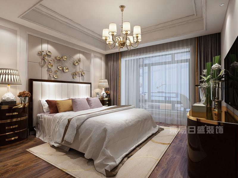 140平米简约美式卧室装修效果图