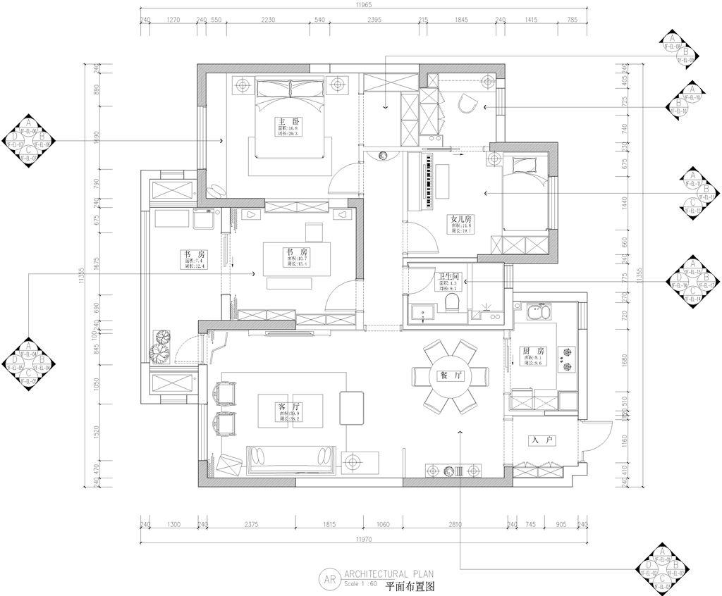 复地东湖国际四期新中式装修效果图装修设计理念