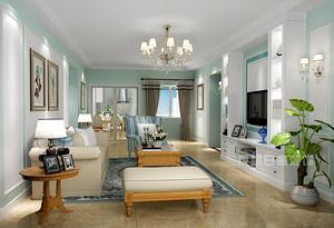 地中海风格客厅装修效果图,呈现不同设计元素
