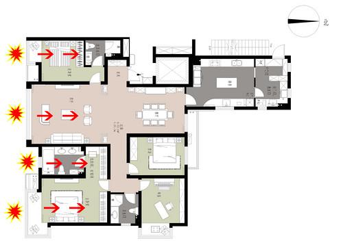 尚景新世界224平米新中式风格装修设计案例装修设计理念