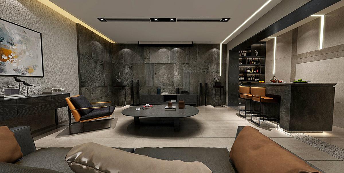 560平-现代简约-独墅西岸装修效果图装修设计理念