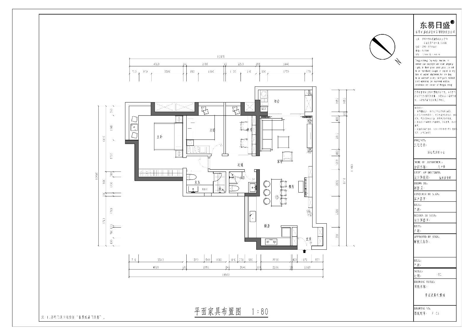 深业花园 现代风格 120平米 装饰设计图装修设计理念