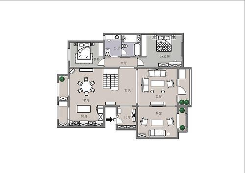 新世界-270平米-美式风格装修设计理念