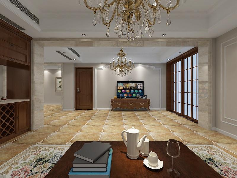 英伦风的双胞胎儿童房,  蓝色壁纸与条纹地毯让空间元气满满.