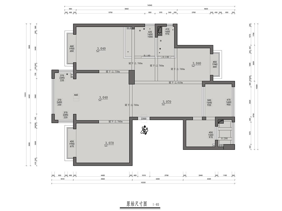河姆渡国际花园台式简约143平米装修设计理念