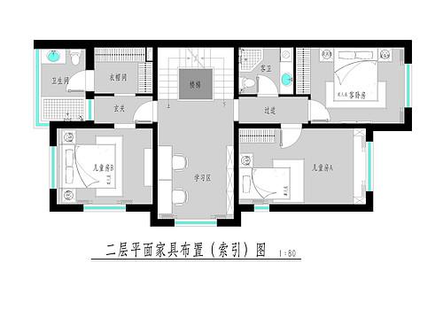 孔雀城英国宫-300平米-简约混搭装修设计理念