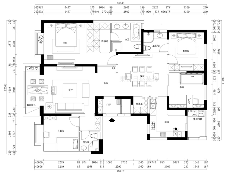 普罗旺世新中式204平普通住宅装修设计理念