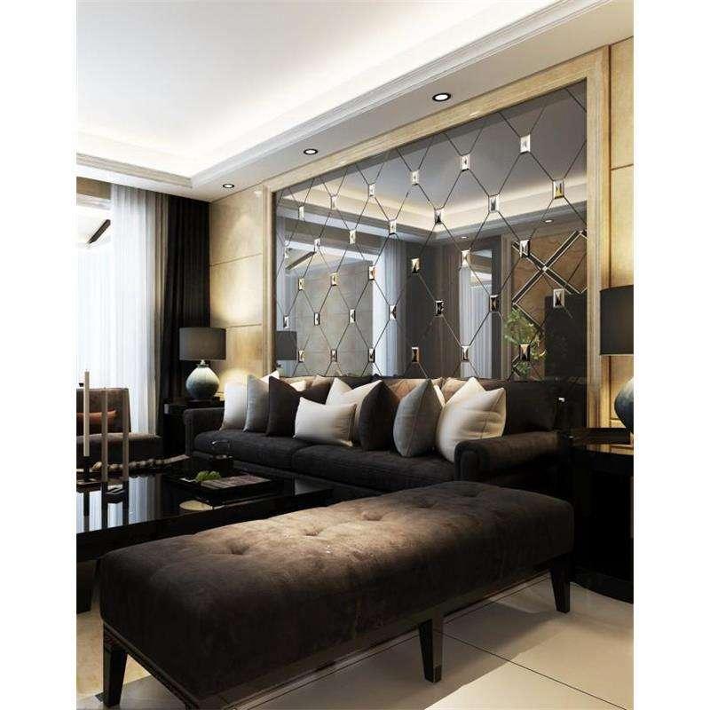 杭州别墅装饰设计中艺术玻璃背景墙的设计美感
