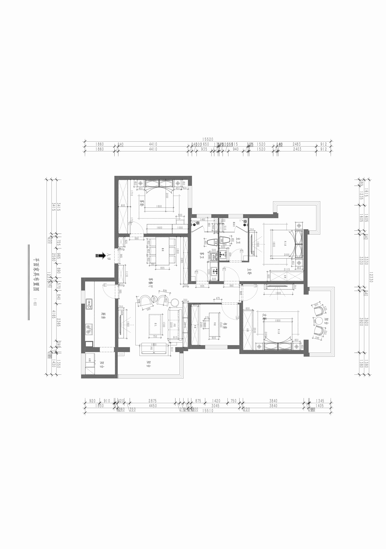 和平村-128平米-新中式装修设计理念