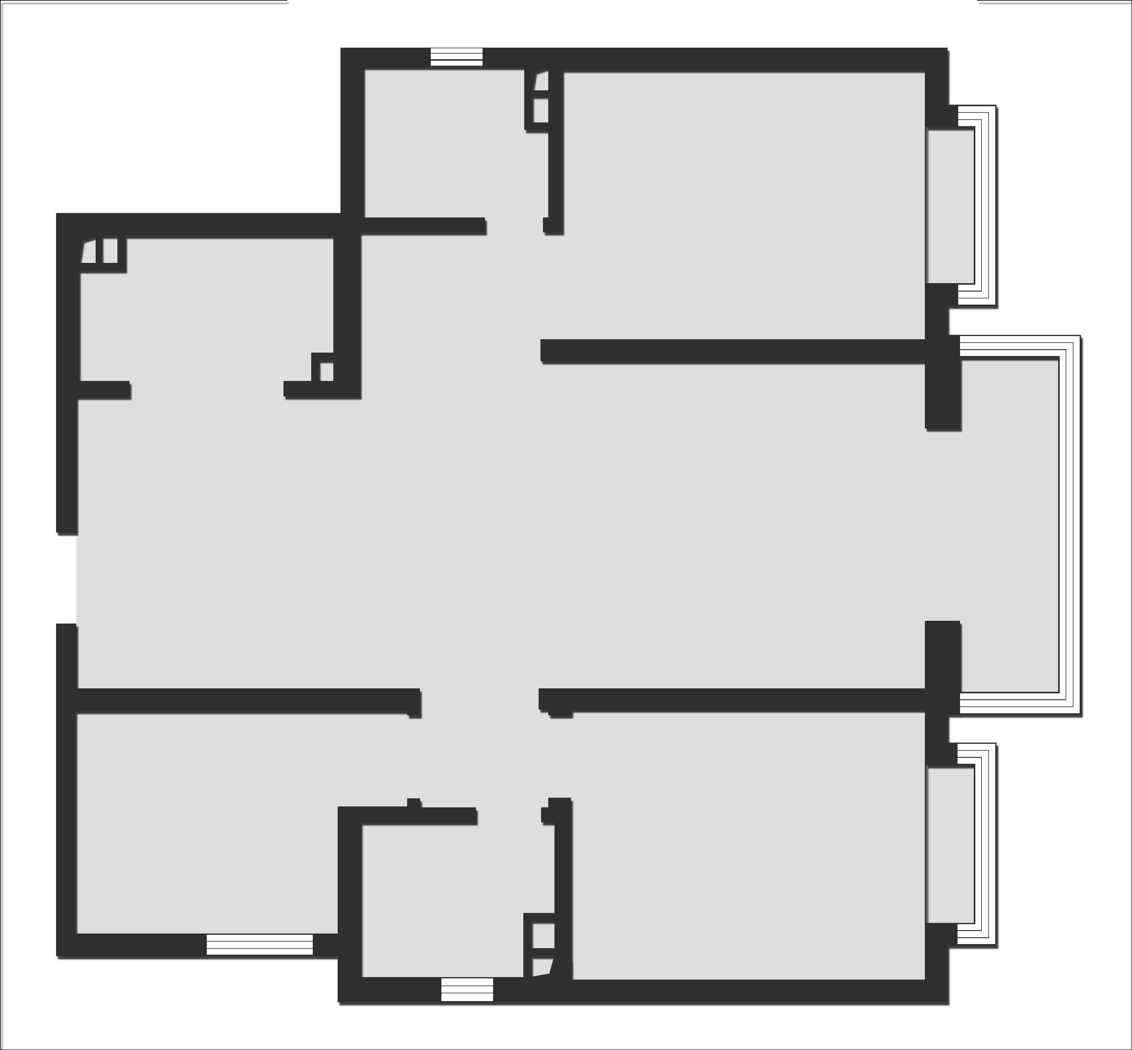 恒大御景半岛135平三室二厅现代简约风格装修案例装修设计理念