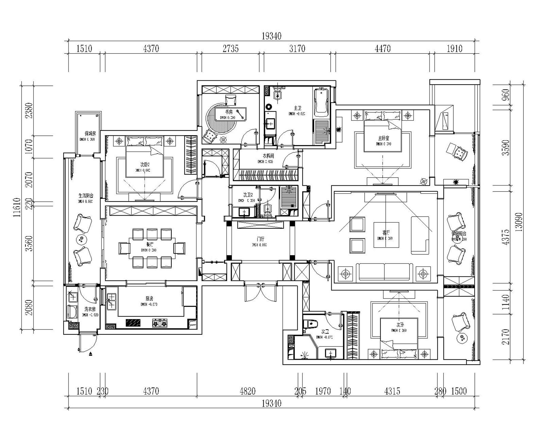 金沙湖简欧风格229平普通住宅装修设计理念