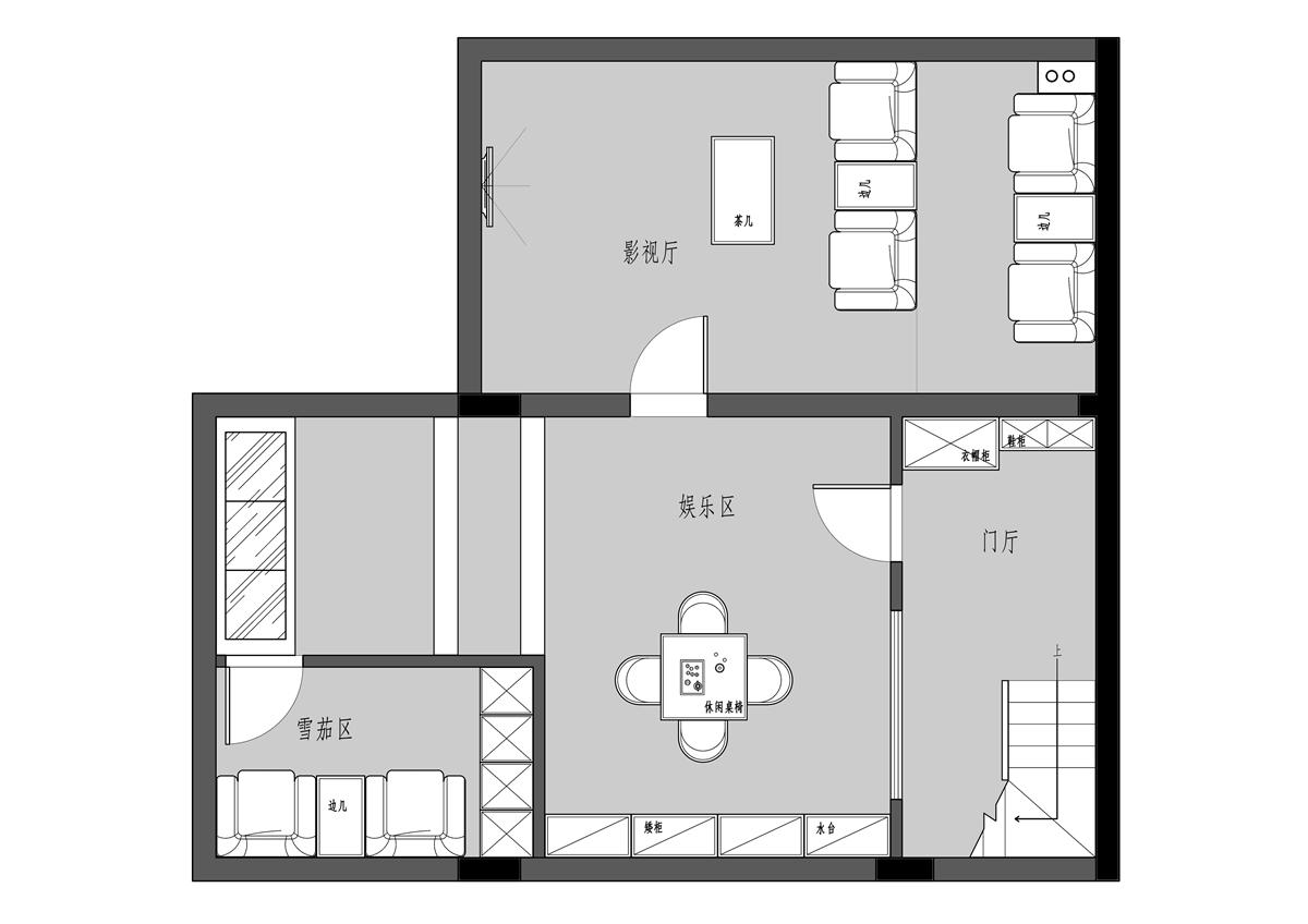 融园220平现代风格装修设计理念