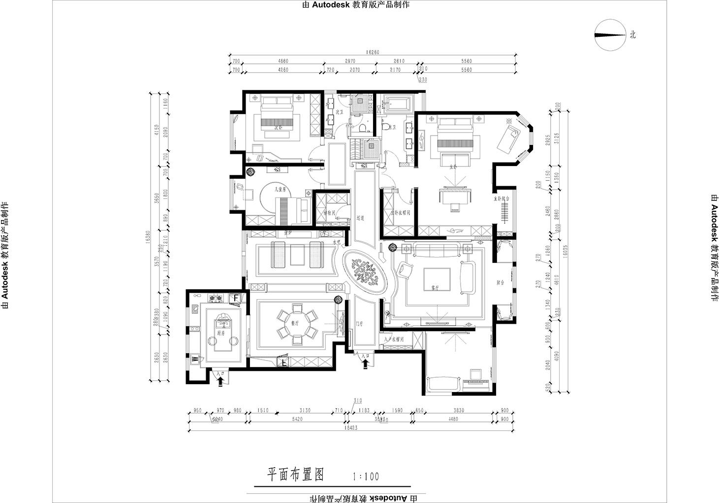 天玺台 法式轻奢装修效果图 四室两厅一厨两卫 248平米装修设计理念