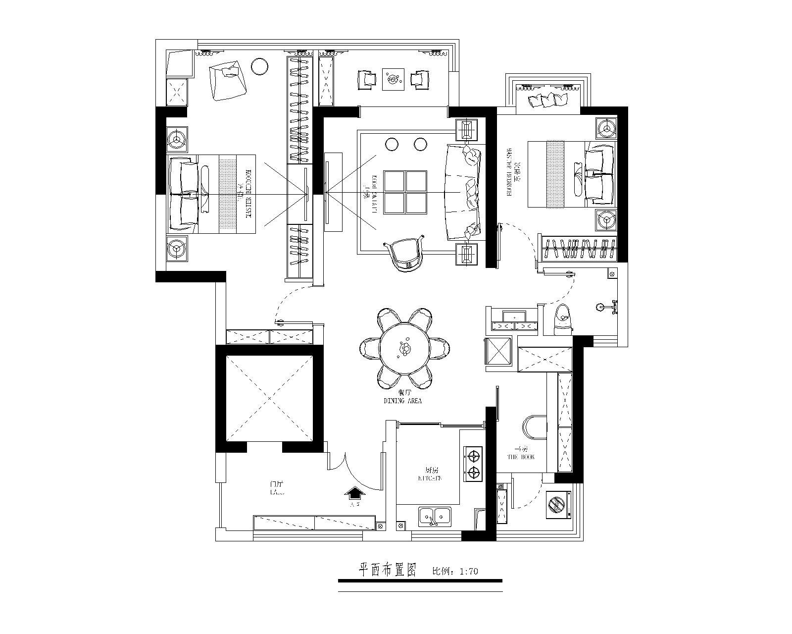 海珀澜庭 雅居美式风格装修效果图 105㎡装修设计理念