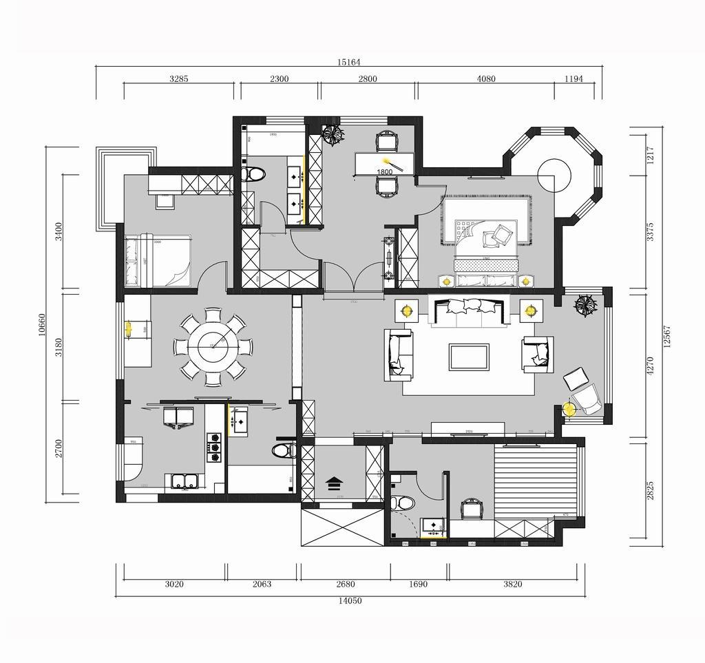城建琨廷-新中式-180平米装修设计理念