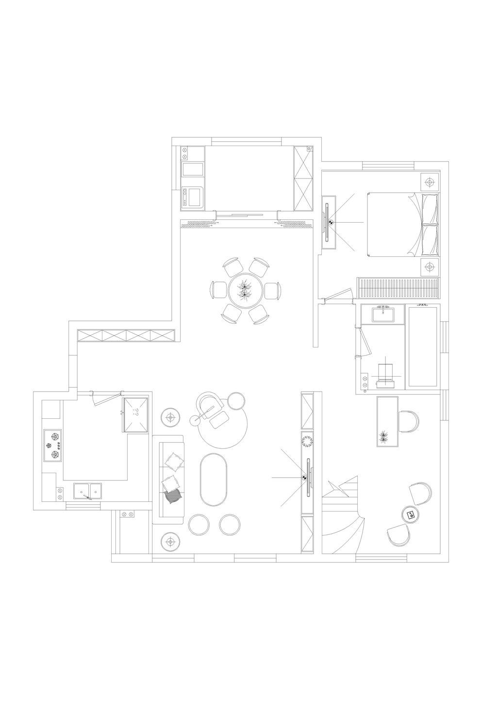 招商公园240平米现代简约风格装修实景图装修设计理念