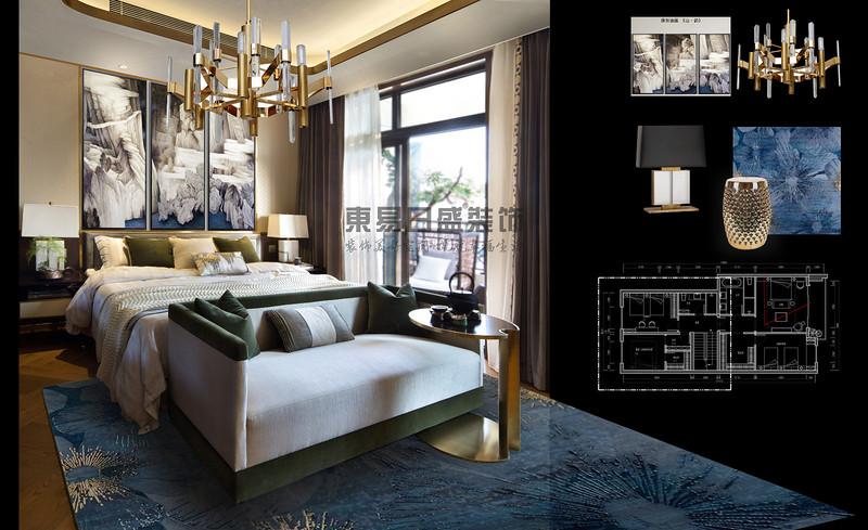 现代中式风格的别墅装修图【世茂湖滨·实例解析】