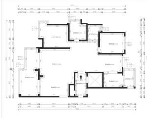 外滩一号 现代简约风格 147平方米 三室两厅  户型图设计分析点评介绍
