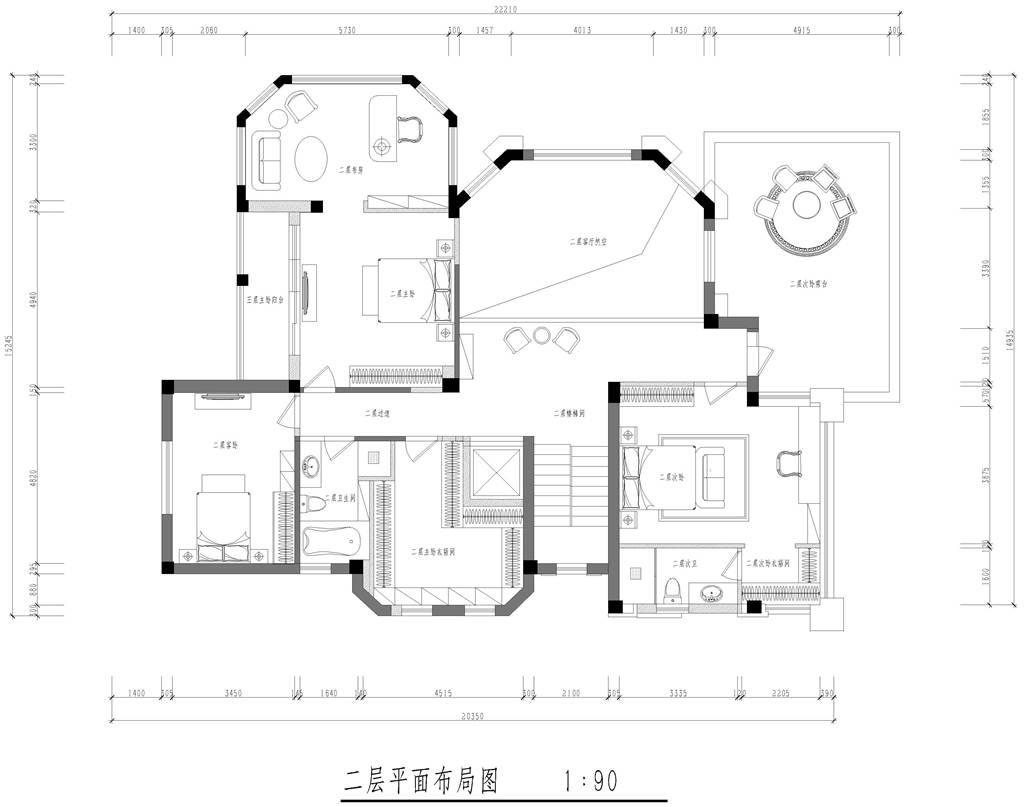 东方夏威夷简欧风格别墅装修效果图装修设计理念