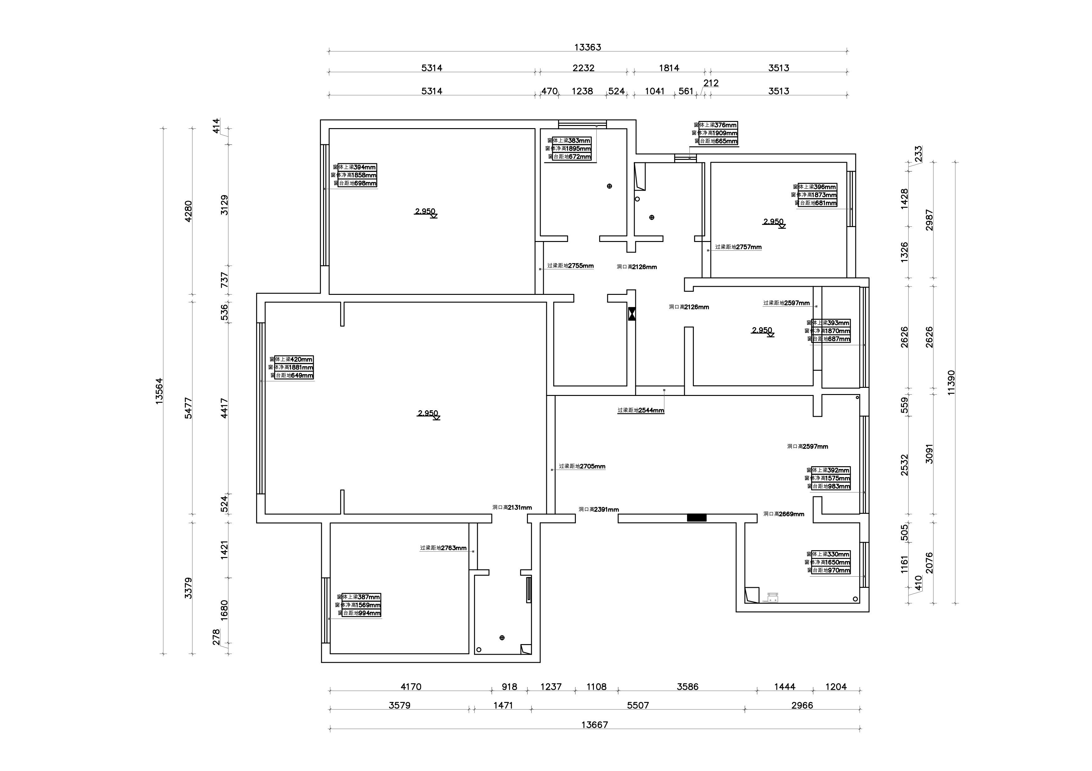 复地东山国际极简风格205平米装修效果图装修设计理念