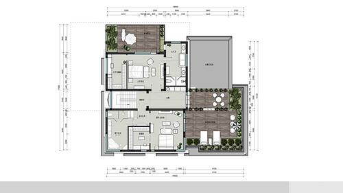 顺义区独栋别墅-简约新美式-850平米装修设计理念