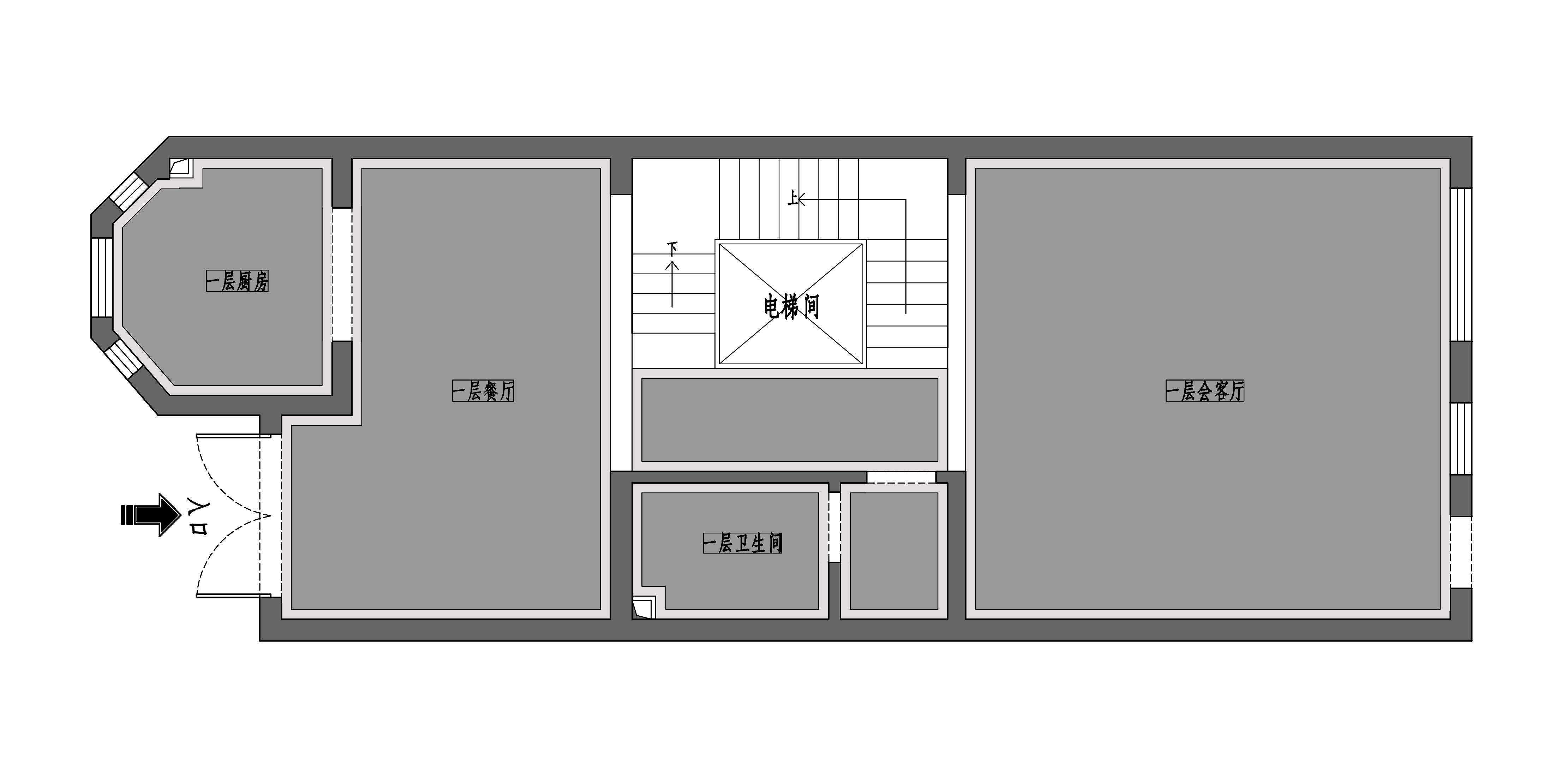 鑫界王府六室四厅新中式风格装修案例装修设计理念