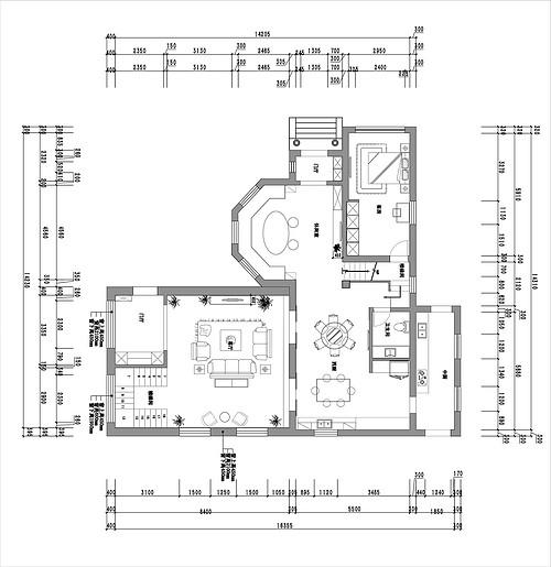 名都园-美式乡村-220平米装修设计理念
