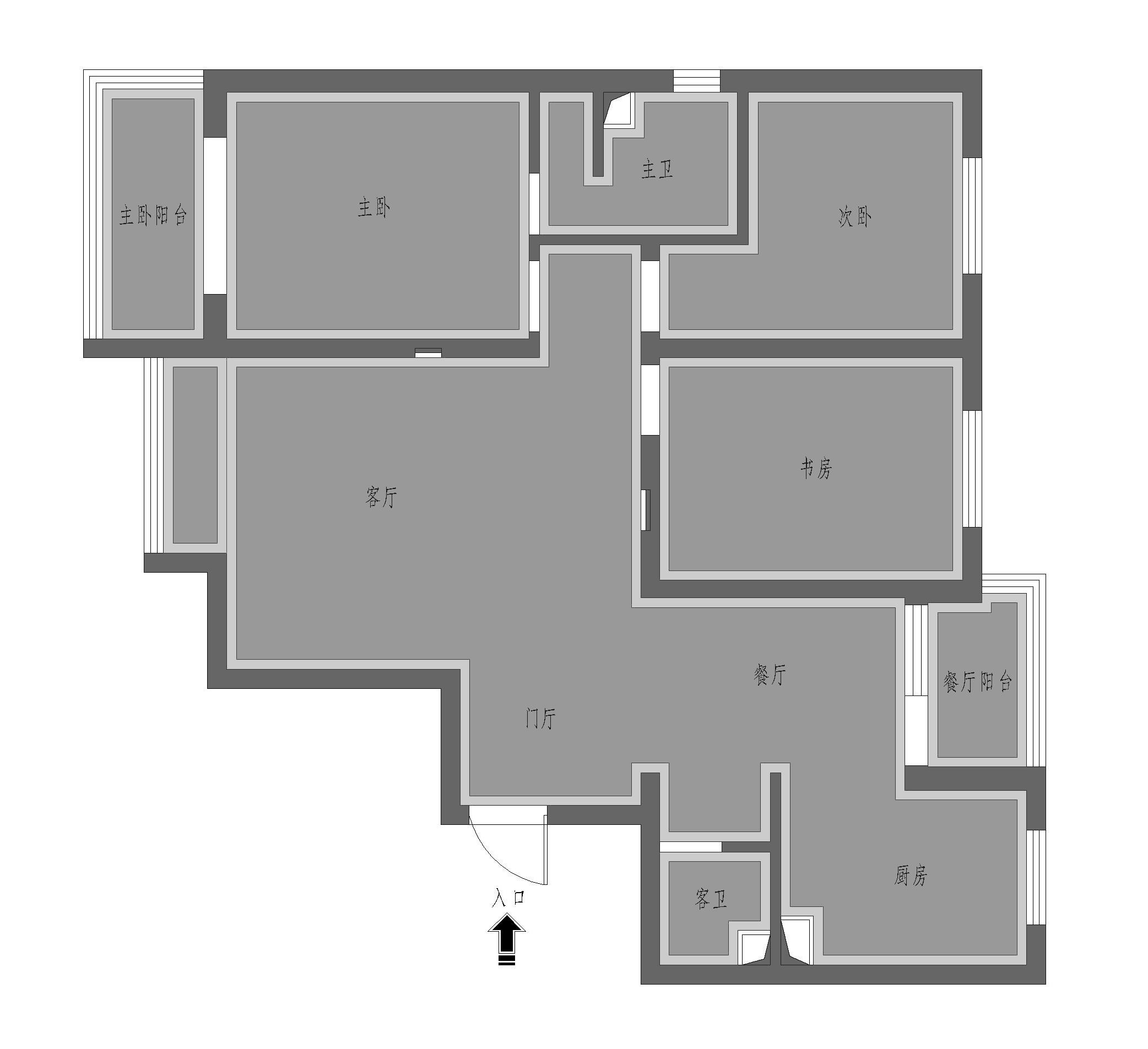 腾华雅苑三室两厅现代简约风格装修案例装修设计理念