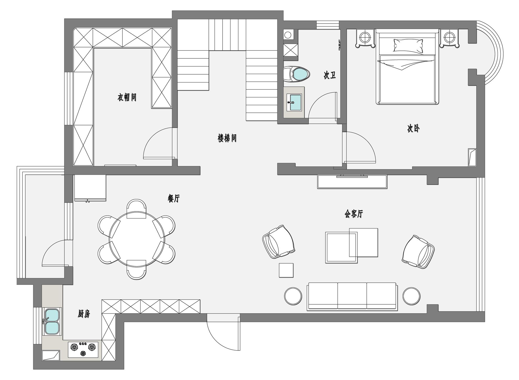 嘉和丽园-现代简约-180平米装修设计理念