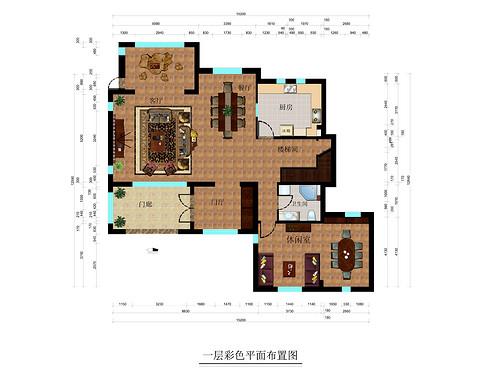 八达岭孔雀城-260平米-美式风格装修设计理念