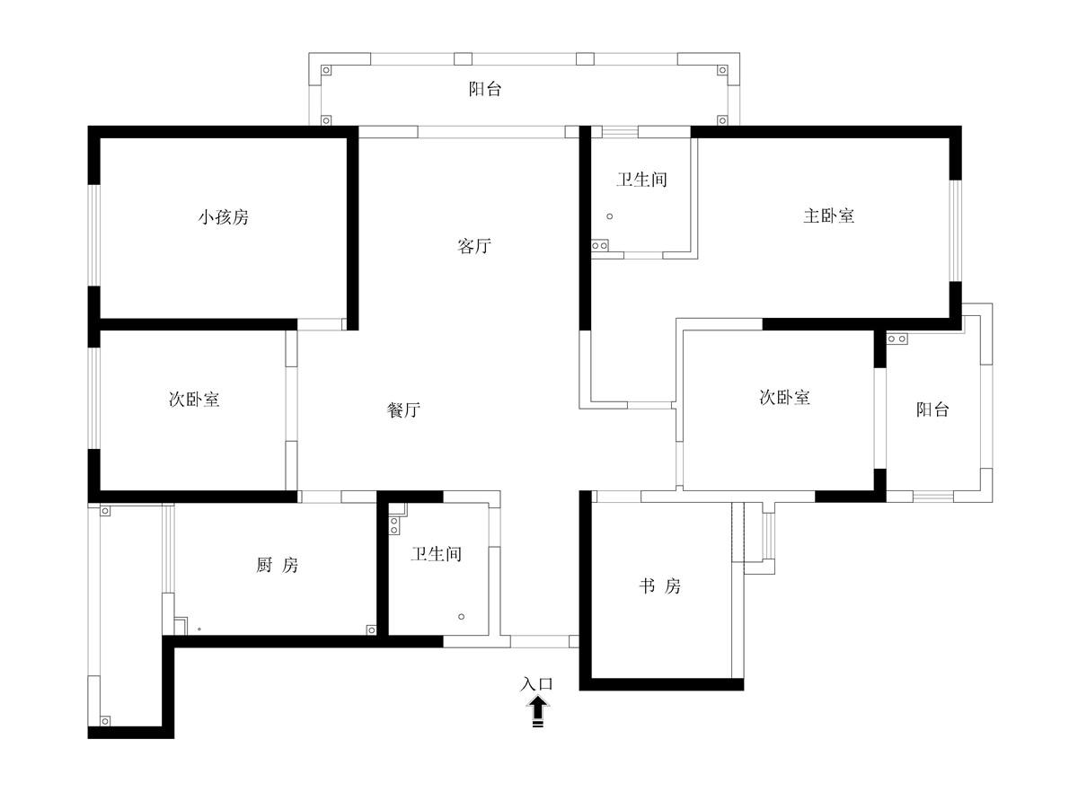 镇江东方诚园195平美式风格装修设计理念