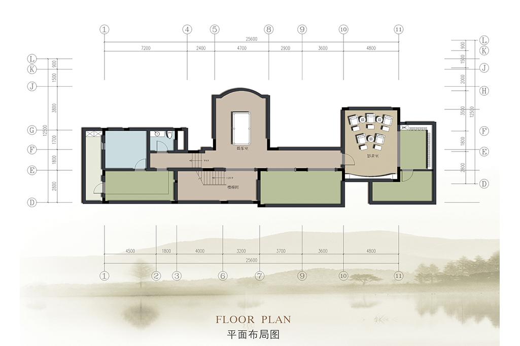 龙湖别墅-新中式-1080㎡装修设计理念
