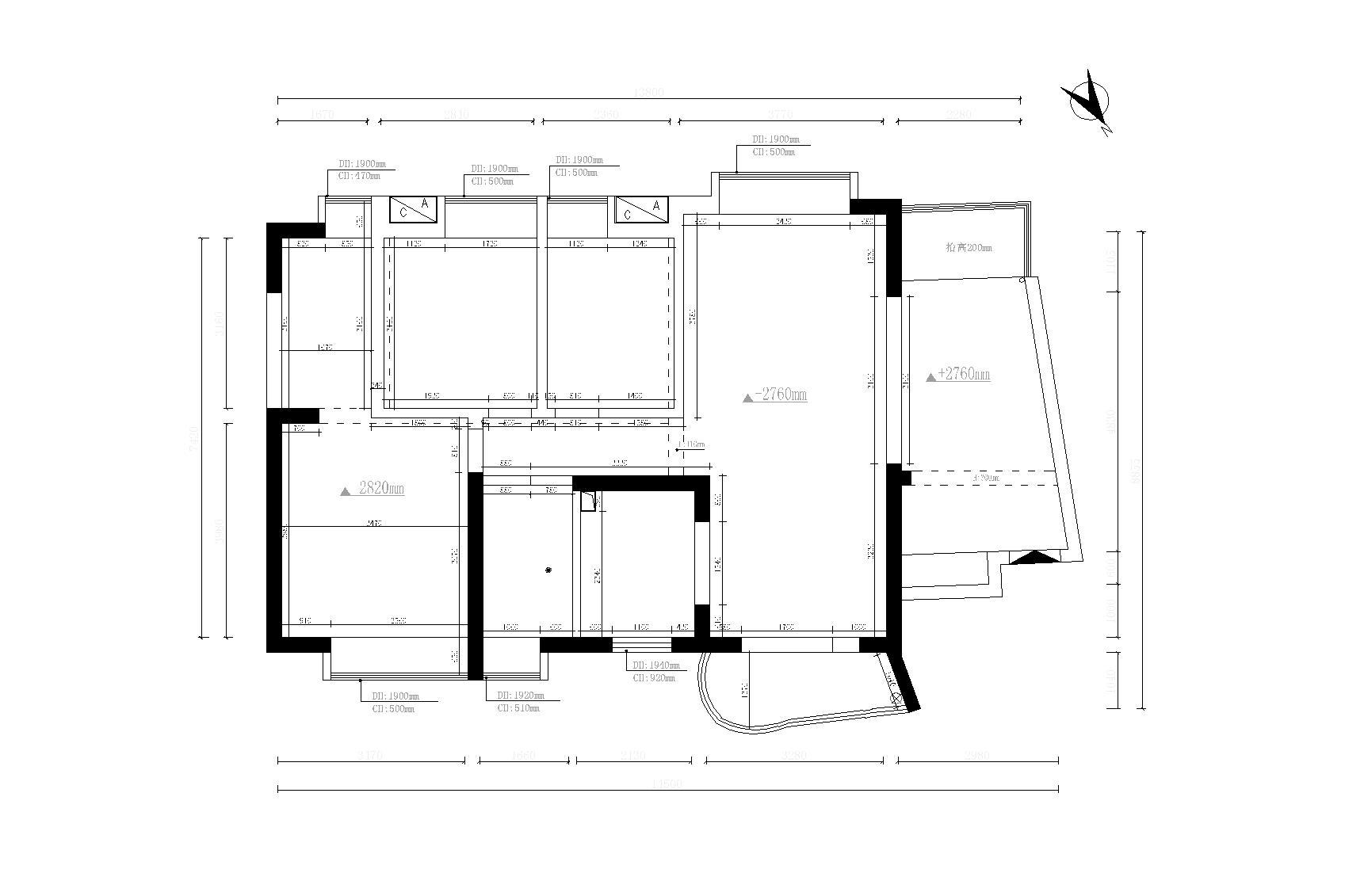 南国丽城-简欧风格-140平-平层装修效果图装修设计理念