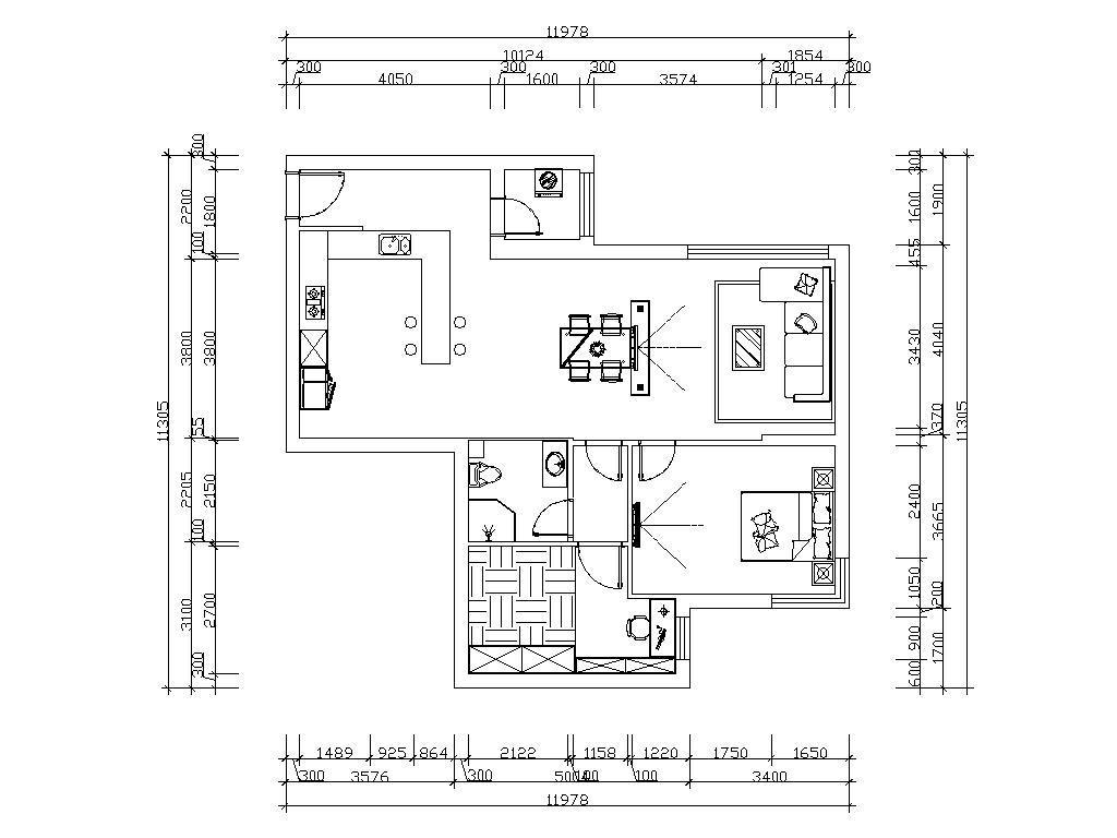 和平村-后现代-78平米装修设计理念