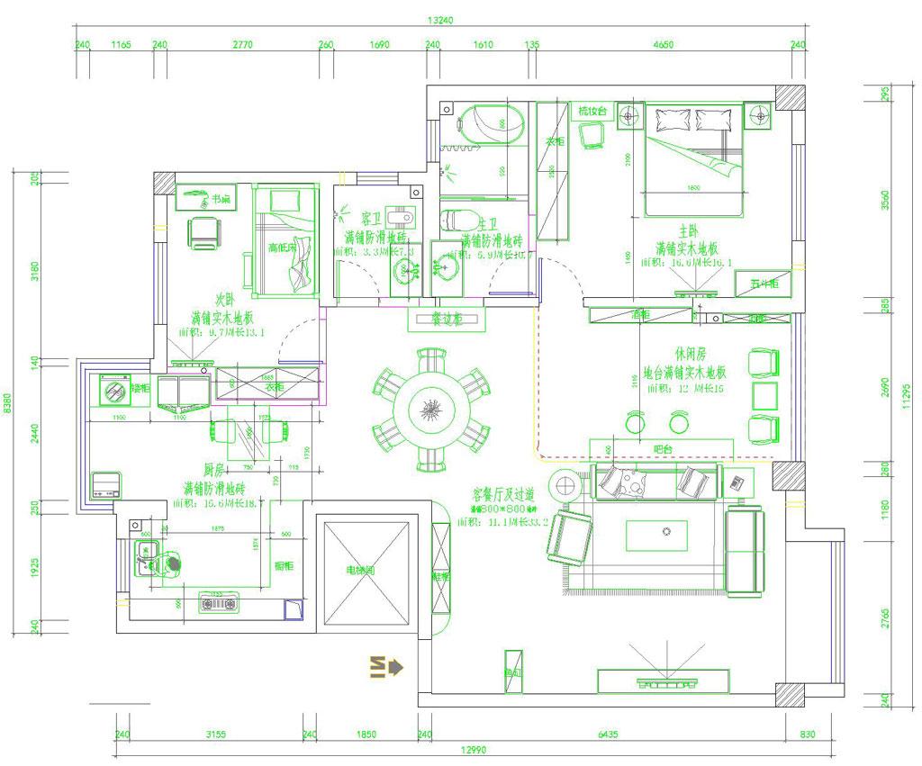 金地格林现代欧式装修效果图装修设计理念