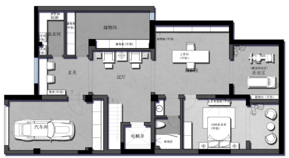 南大和园别墅 350平 现代简约装修设计理念