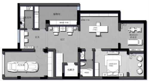 南大和园别墅--任时光荏苒 几何刻画空间维度装修设计理念