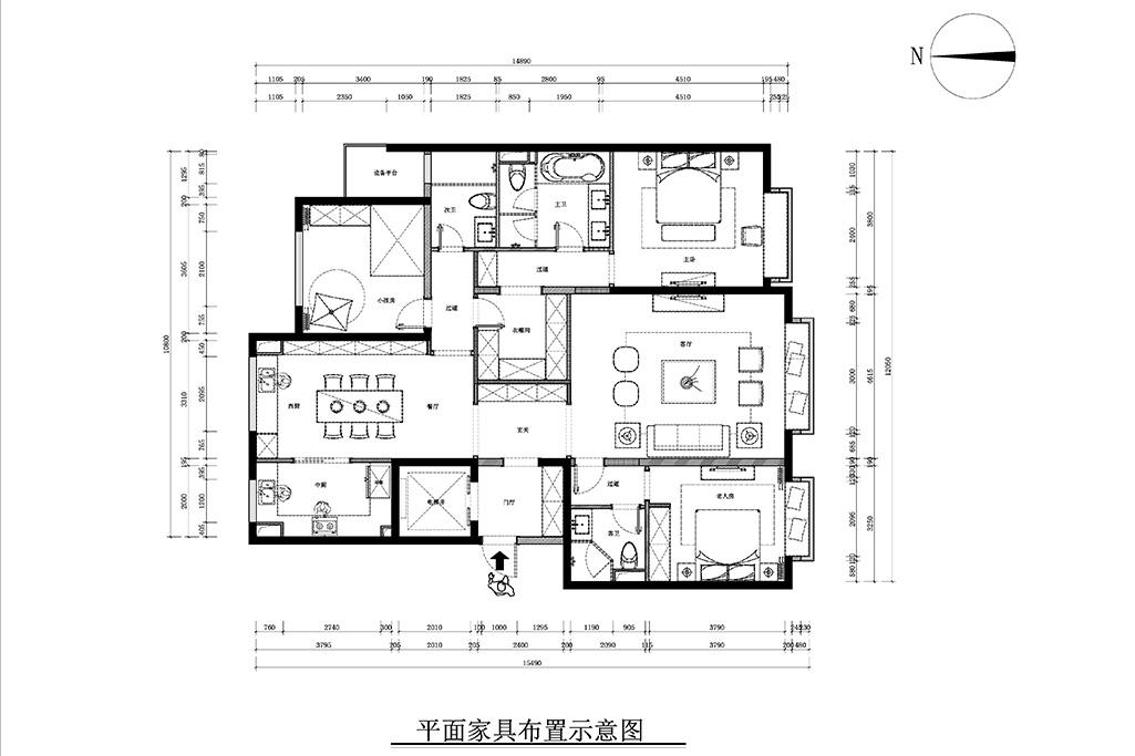 中国玺-新中式风格-181㎡装修设计理念