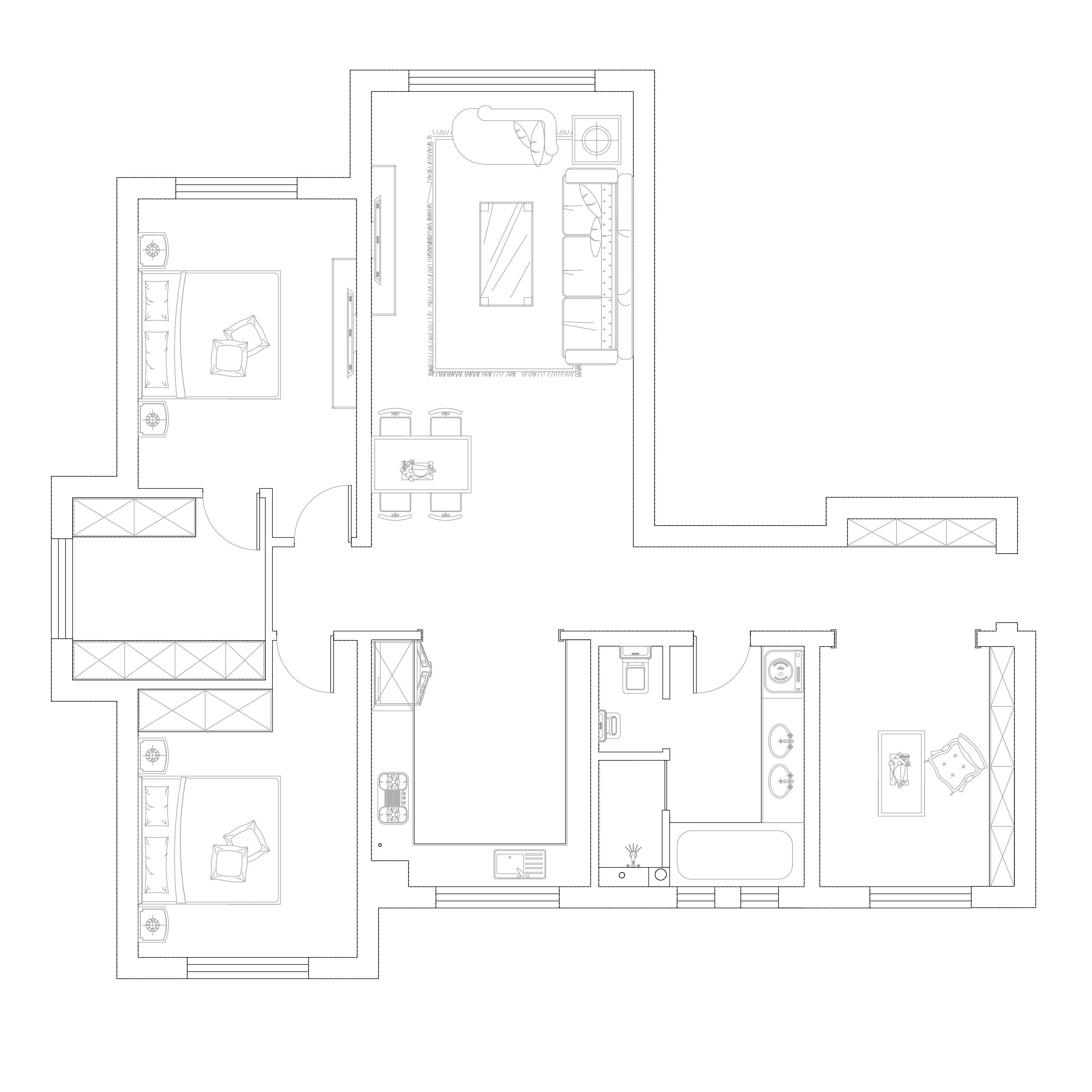 大华锦绣华城-现代简约-131.67平装修设计理念
