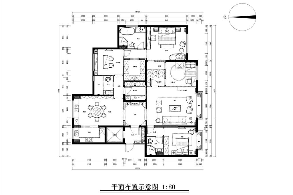 中国玺-法式风格-218㎡装修设计理念