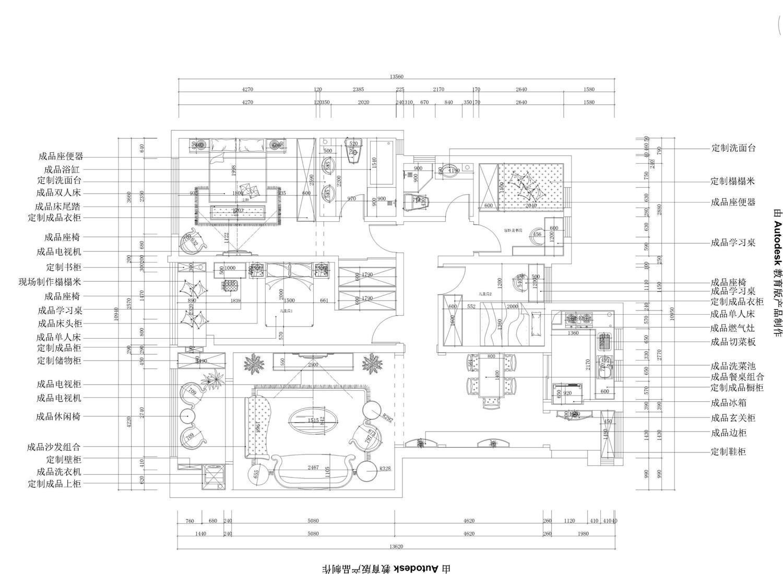 天地湾新古典146平普通住宅装修设计理念