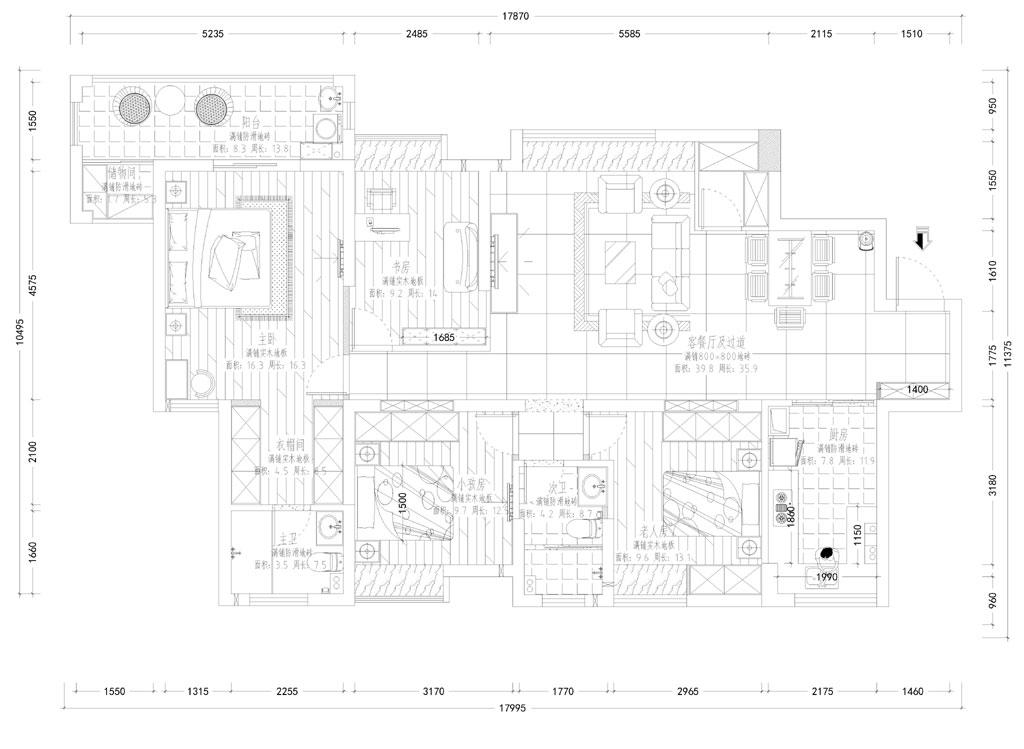 青城华府中式风格装修效果图装修设计理念