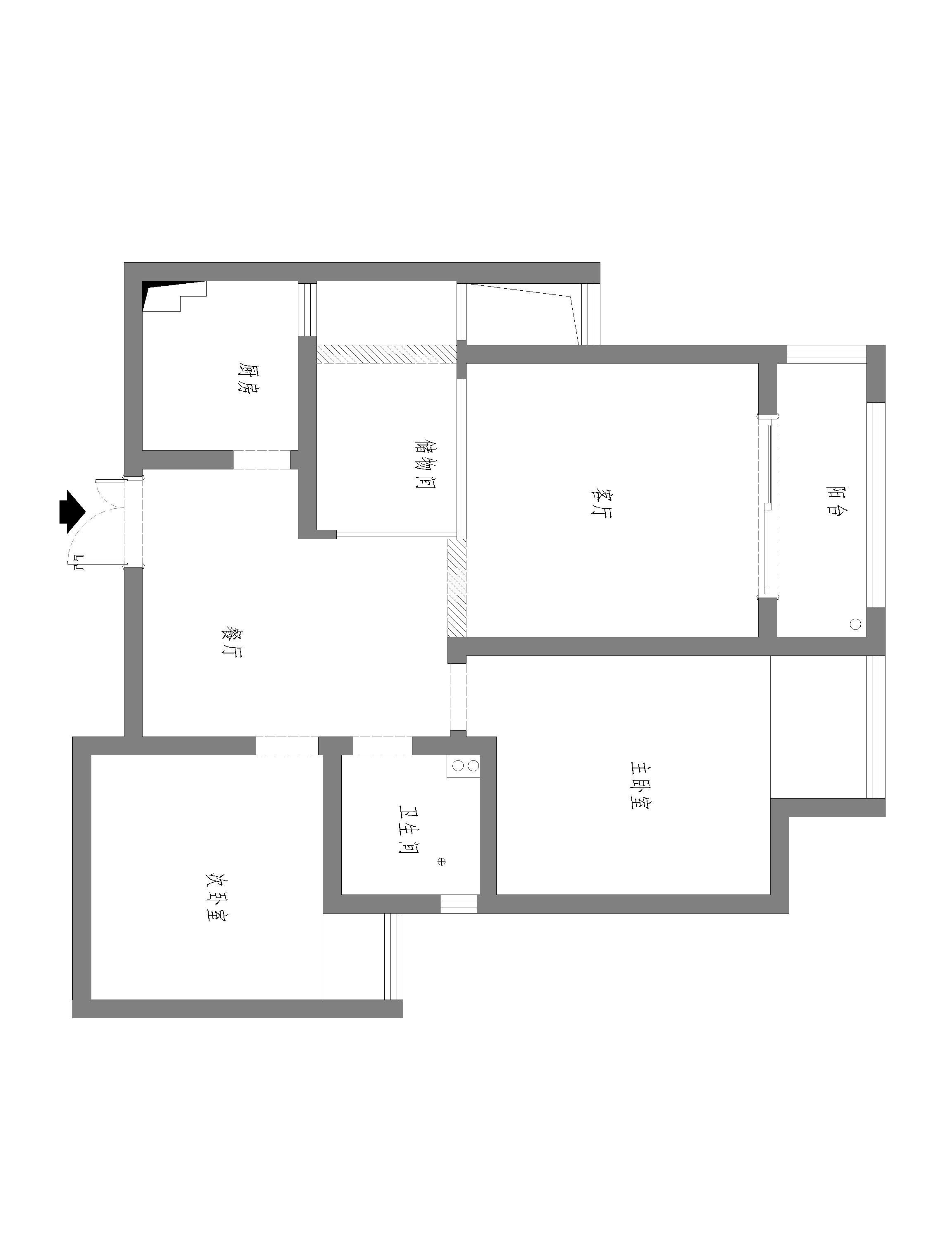 蓝鼎·滨湖假日清华园-86平米-现代简约风格装修案例效果图装修设计理念