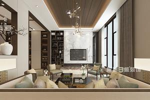 新中式别墅装修效果图,哪家装修公司做的好?